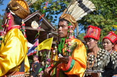 Manau traditional event of Kachin's tribe to worship God Stock Images
