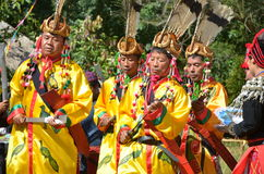 Manau traditional event of Kachin's tribe to worship God Stock Photography