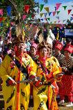 Manau traditional event of Kachin's tribe to worship God and wish The king of Thailand Royalty Free Stock Photography