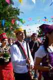 Manau traditional event of Kachin's tribe to worship God and wish The king of Thailand Royalty Free Stock Images