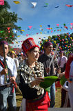 Manau traditional event of Kachin's tribe to worship God and wish The king of Thailand Stock Photos