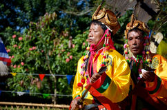 Manau traditional event of Kachin's tribe to worship God and wish The king of Thailand Royalty Free Stock Photos