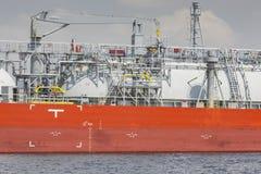MANAUS, BRAZIL - OCTOBER 2013 : Industrial ship in Manaus harbor Stock Photos