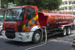 Manaus fire truck on the scene Royalty Free Stock Photo