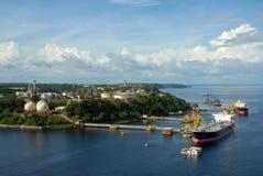Manaus oljeraffinaderi arkivbilder