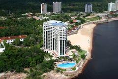 Manaus-Stadtamazonas-Fluss Brasilien stockfotografie