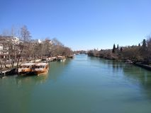 Manavgat Fluss Fotografie Stock Libere da Diritti