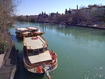 Manavgat Fluss. Manavgat side fluss Stock Image