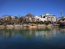 Manavgat Fluss. Manavgat side fluss Stock Images