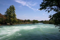 Manavgat river royalty free stock photo
