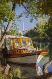 Manavgat river boat Stock Photos