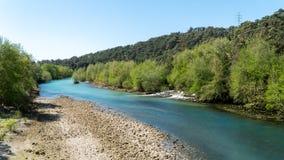 Manavgat river at Oymapinar Antalya, Turkey royalty free stock photography