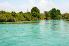 Manavgat river in Turkey Stock Image