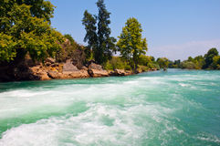 Manavgat river in Turkey Royalty Free Stock Photo