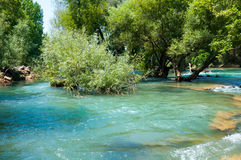 Manavgat river in Turkey Stock Photo