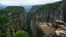 Ландшафт каньона от Manavgat, Антальи, Турции Каньон Tazi, Bilgelik Vadisi Большие долина и скала стоковые фотографии rf