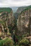 Ландшафт каньона от Manavgat, Антальи, Турции Каньон Tazi, Bilgelik Vadisi Долина и скала премудрости стоковые фото