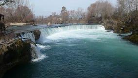 Manavgat waterfall. Alanya turkey waterfall, where peace, blue and green Stock Photos
