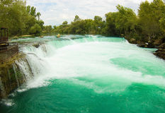 Manavgat waterfall in Turkey Royalty Free Stock Image