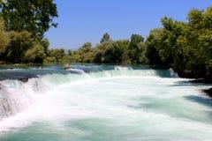 Manavgat waterfall, Turkey. Powerful Manavgat waterfall on the Manavgat River near the city of Side Stock Image