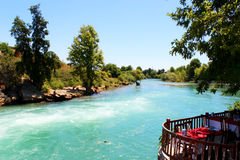 Manavgat waterfall, Turkey Royalty Free Stock Photos
