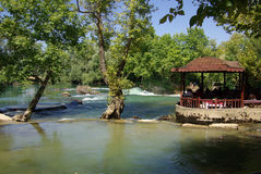 Manavgat Waterfall in Turkey Royalty Free Stock Images