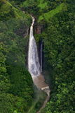 Manawaiopuna Falls, also known as Jurassic Park Falls Stock Photography