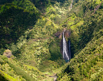 Manawaiopuna Falls in Kauai Royalty Free Stock Photo