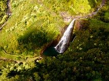 Manawaiopuna Falls in Kauai Royalty Free Stock Image