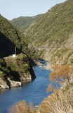 Manawatu Gorge. The Manawatu River winding through the Manawatu Gorge, New Zealand Royalty Free Stock Images
