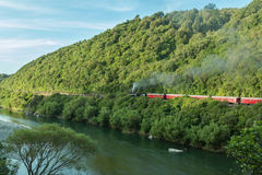Manawatu Gorge Steam Train. Steam Train passing though the Manawatu Gorge Royalty Free Stock Photography