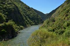 Manawatu River - New Zealand. Landscape of Manawatu River flows in Manawatu Gorge in the North Island of New Zealand Stock Images