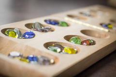 Mancala Board Game Royalty Free Stock Images