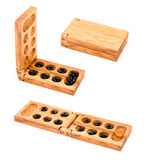 Mancala isolated on white Royalty Free Stock Photo