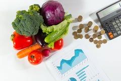 Mancanza di fondi sulle verdure, pubblicità sociale fotografia stock
