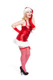 Mancanza sorpresa attraente Santa Fotografia Stock