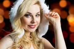 Mancanza sorridente attraente Santa Immagini Stock