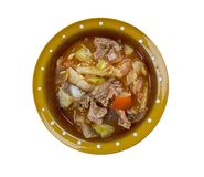 Romanian Vegetable stew with beef Stock Photo