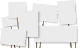 Manch eine Fahne auf weißem Hintergrund stock abbildung