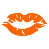 Mancha anaranjada del lápiz labial Fotos de archivo