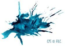 Mancha azul da aquarela Foto de Stock Royalty Free
