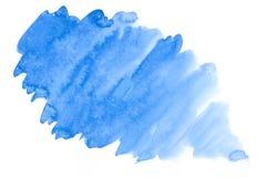 Mancha azul de la acuarela Foto de archivo
