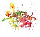 Mancha blanca /negra abstracta de la acuarela Imagen de archivo libre de regalías