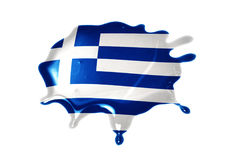 Mancha blanca /negra con la bandera nacional de Grecia fotos de archivo libres de regalías