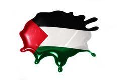 Mancha blanca /negra con la bandera nacional de Palestina libre illustration