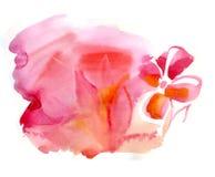 Mancha blanca /negra de la acuarela, fondo hermoso Foto de archivo libre de regalías