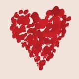 Mancha blanca /negra de la pintura de la tarjeta del día de San Valentín del bosquejo Imagenes de archivo