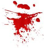 Mancha blanca /negra de la sangre roja stock de ilustración
