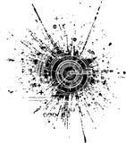 Mancha blanca /negra de la tecnología Foto de archivo