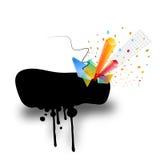 Mancha blanca /negra de la tinta Imagen de archivo libre de regalías